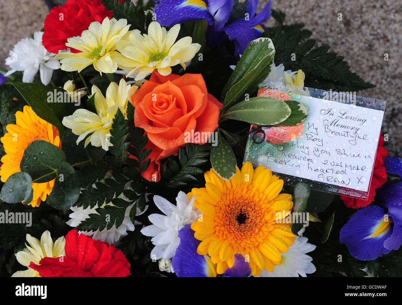 Nicholas Smith funeral - Stock Image