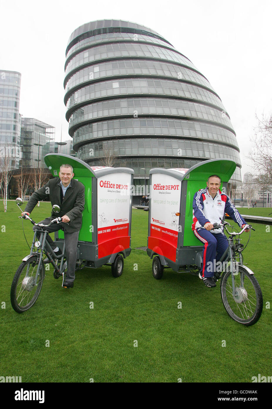 Cargo cycles launch - Stock Image