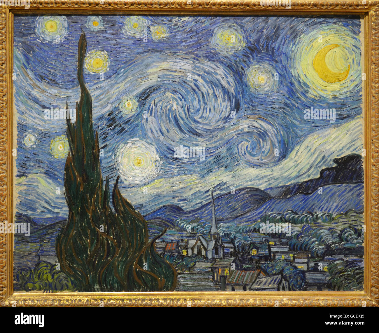 The Starry Night, 1889, Vincent Van Gogh - Stock Image