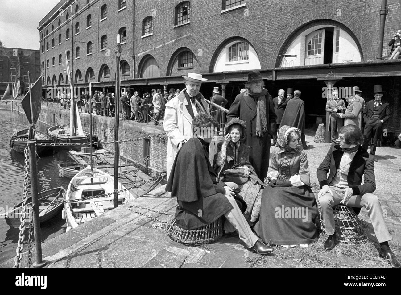 Film - David Copperfield - St Katharine's Dock - Stock Image