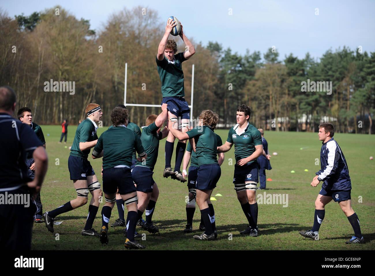 Rugby Union - Wellington International Festival - Scotland U17 v Canada U17 - Wellington College - Stock Image