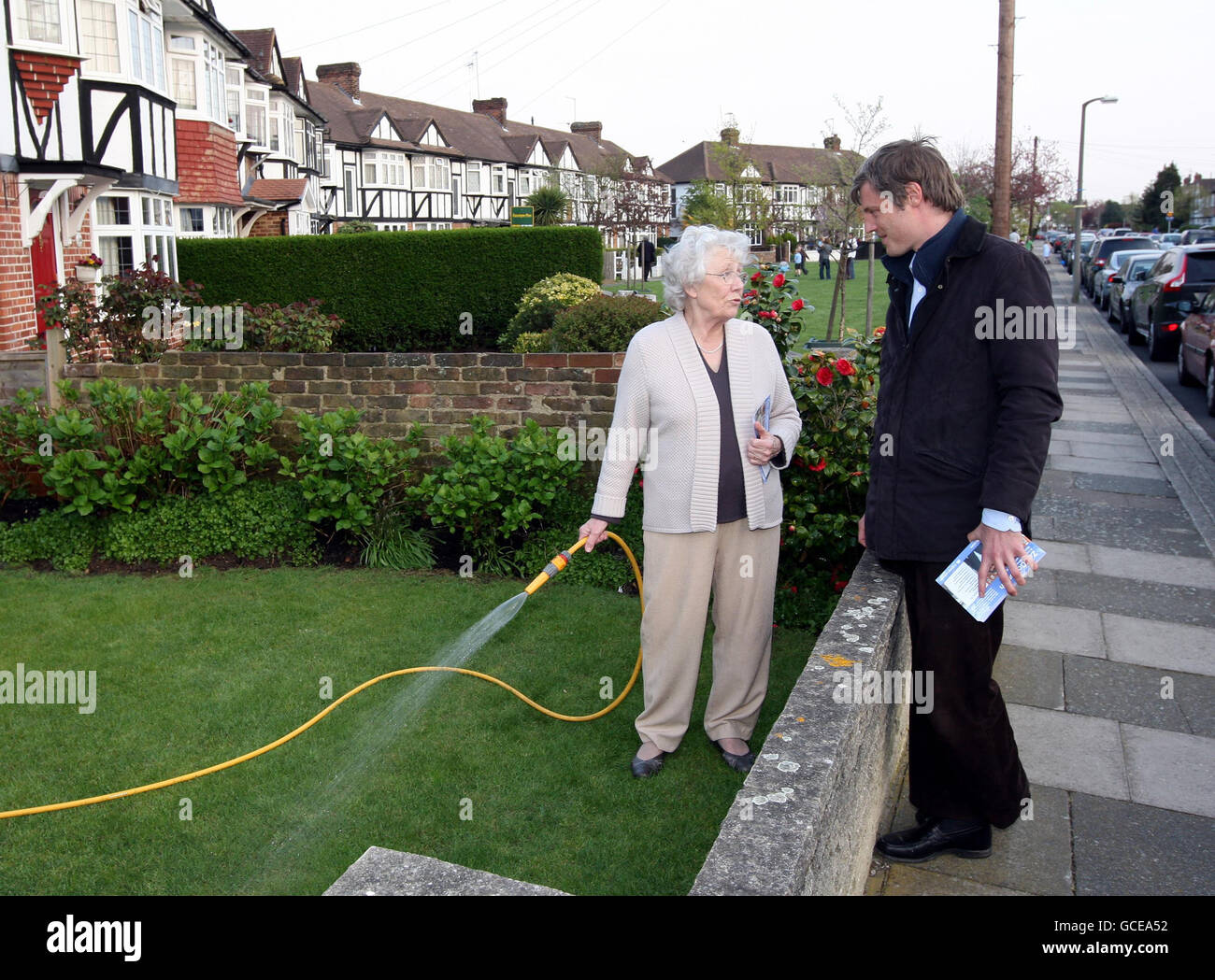2010 General Election campaign Apr 19th - Stock Image