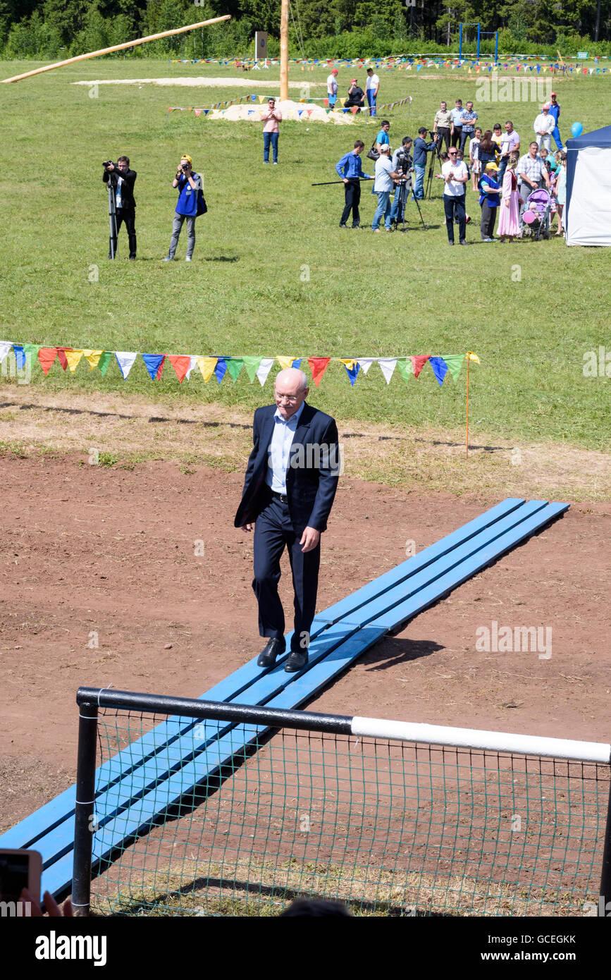 President of the Republic of Bashkortostan at the Sabantuy celebration in Russia in 2016 - Stock Image
