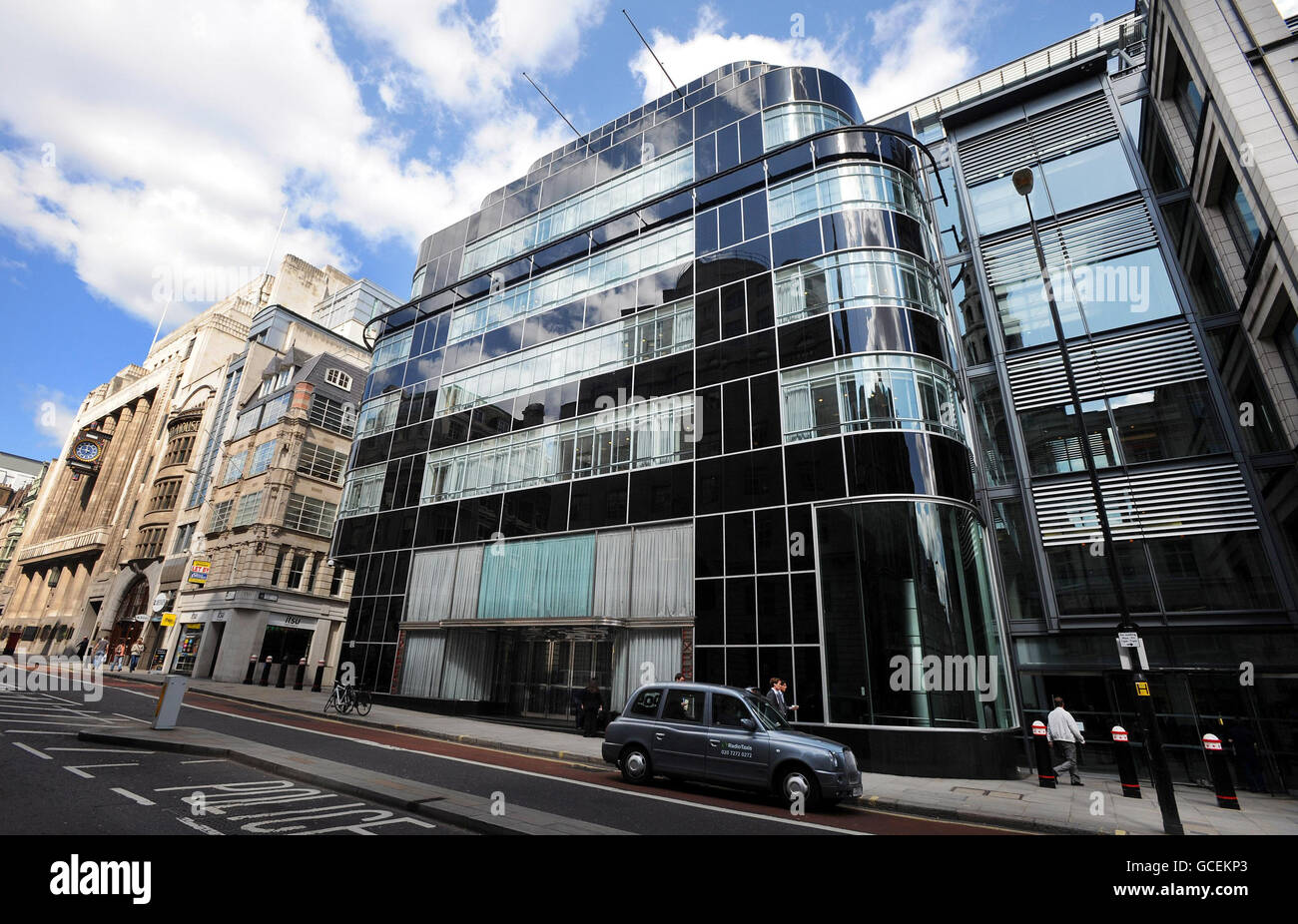 Buildings and Landmarks - The Daily Express Offices - Fleet Street - London - Stock Image