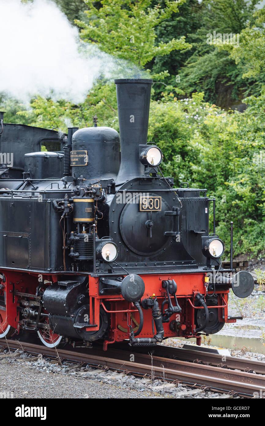 Historic steam engine Feuriger Elias, Korntal-Münchingen, Baden-Württemberg - Stock Image