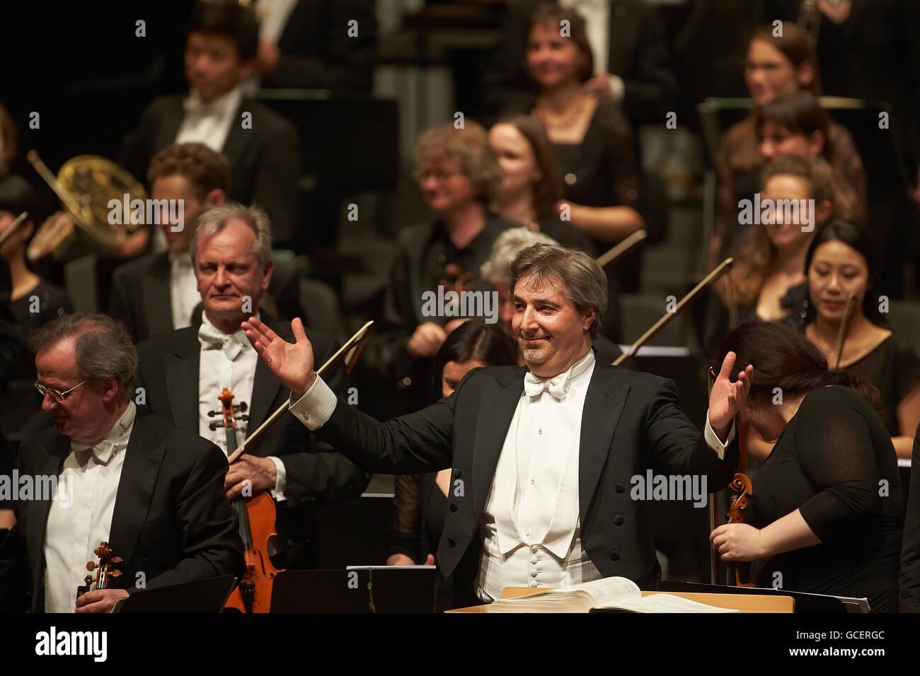 Daniel Raiskin, principal conductor of the State Orchestra Rheinische Philharmonie, Koblenz, Rhineland-Palatinate, - Stock Image