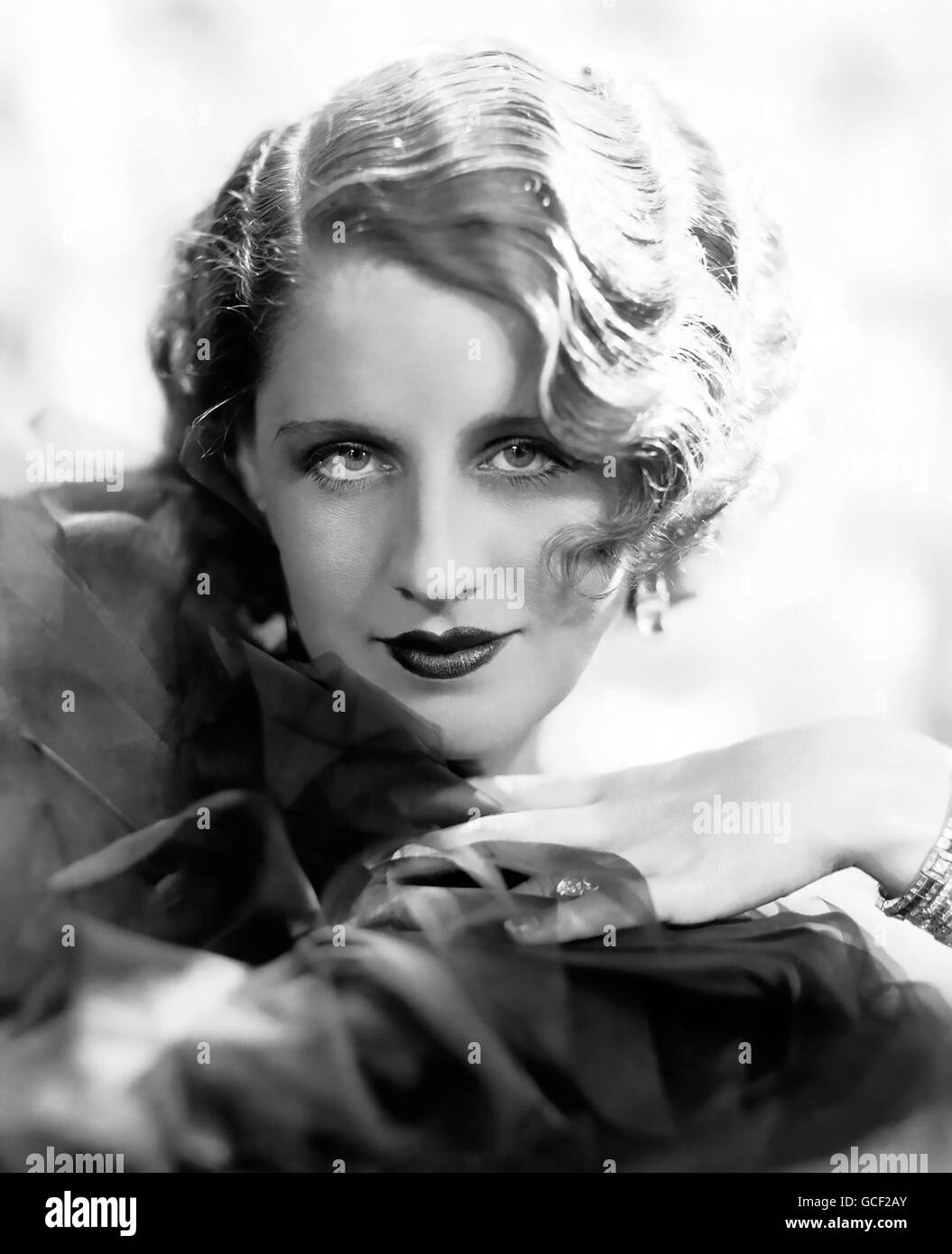 NORMA SHEARER (1902-1983) Canadian film actress about 1935 - Stock Image