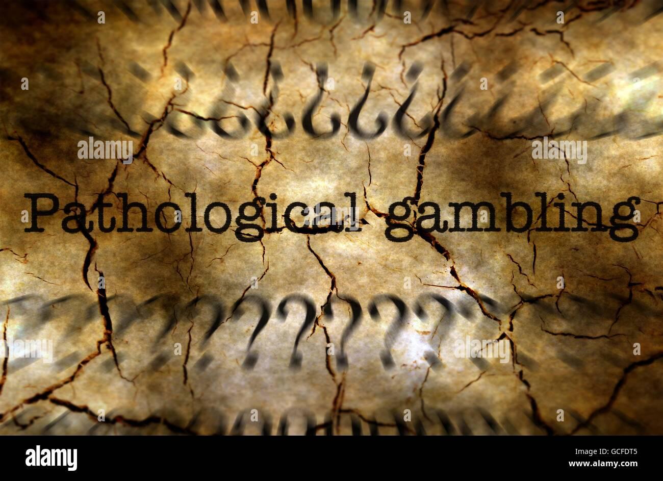 Pathological gambling disease concept - Stock Image