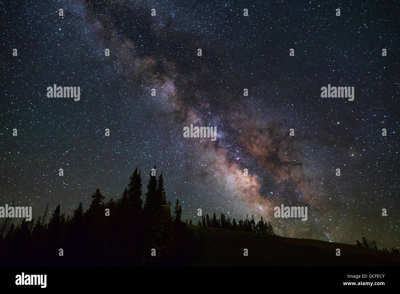 The Milky Way above Telluride, Colorado - Stock Image