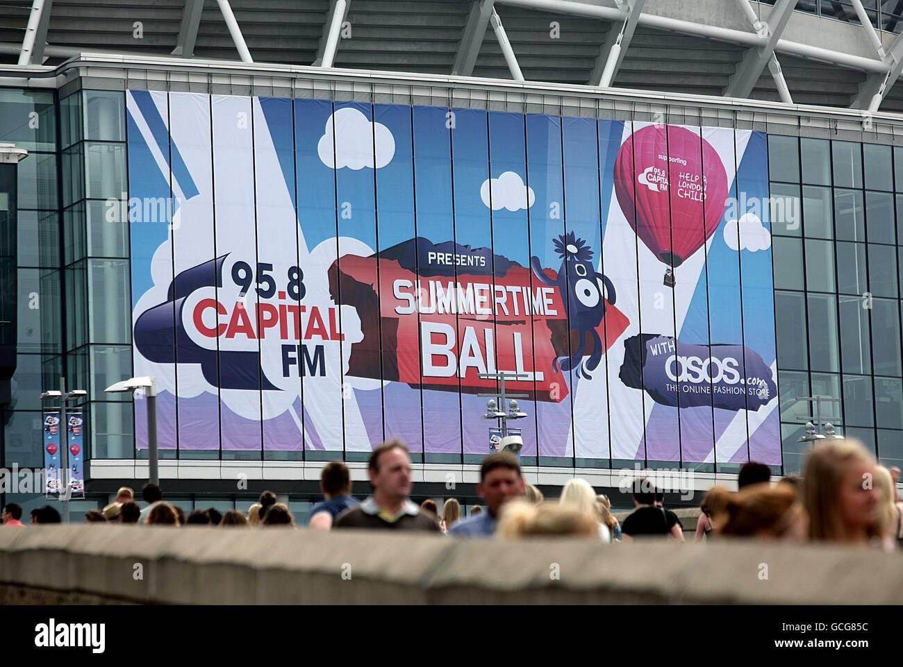 Capital Radio Summertime Ball - London - Stock Image