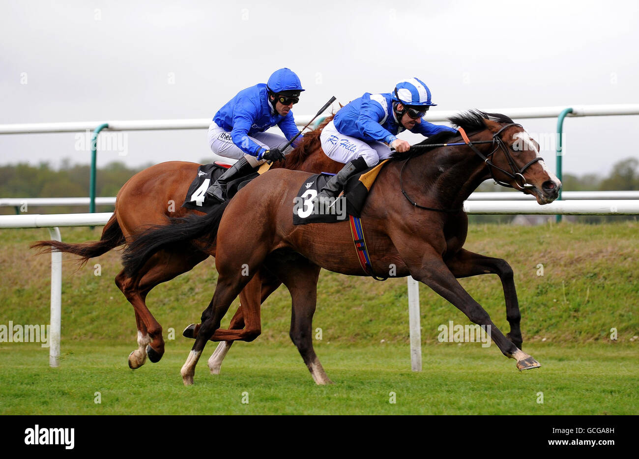 Horse Racing - Lingfield Racecourse Stock Photo