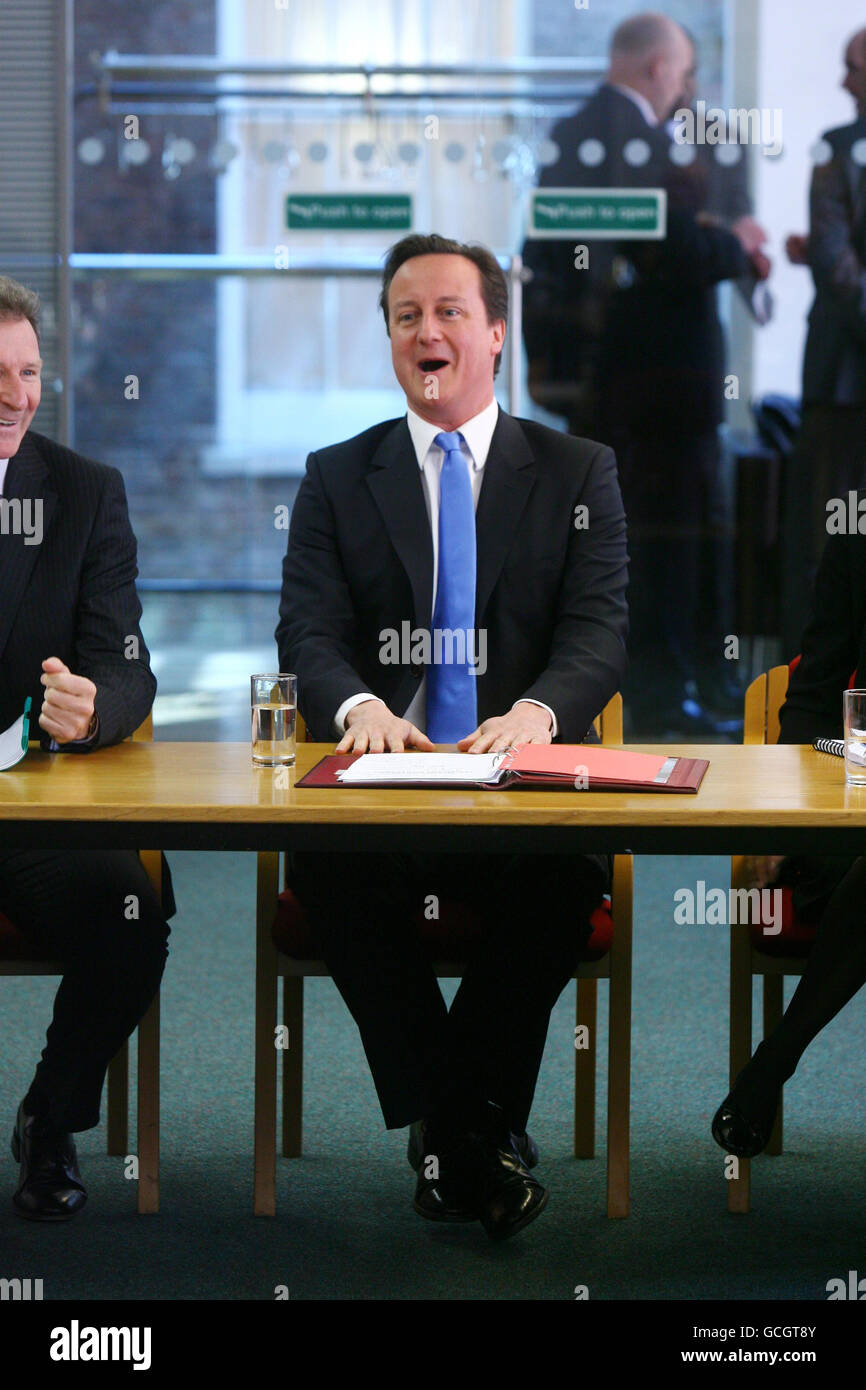 Cameron holds meeting with Permanent Secretaries from Government departments Stock Photo