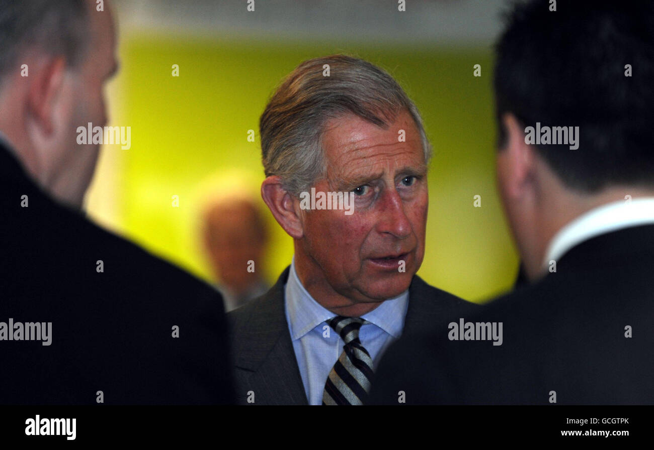 Charles visits Teeside - Stock Image