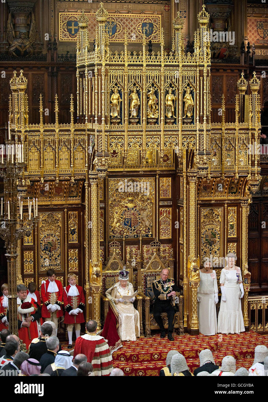 Customs and Traditions - State Opening of Parliament - London - Stock Image