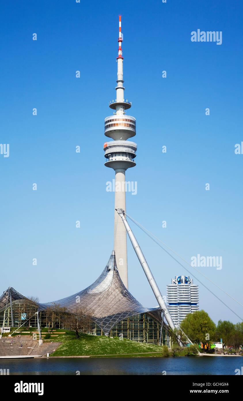 Olympiastadion; Munich, Bavaria, Germany - Stock Image