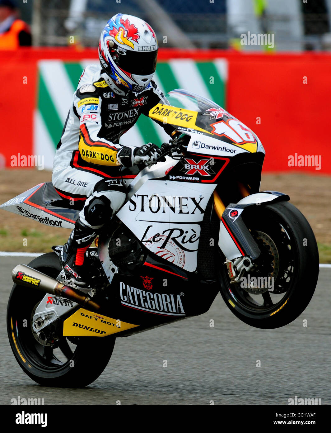 Motor Cycling - 2010 AirAsia British Grand Prix - Moto2 Championship - Silverstone - Stock Image