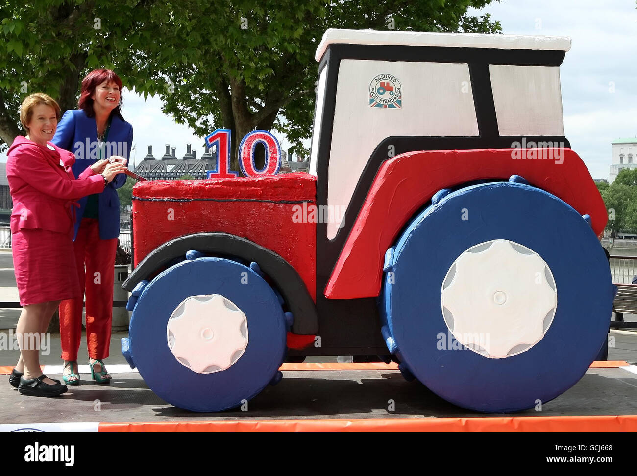 10th Birthday of Red Tractor - Stock Image