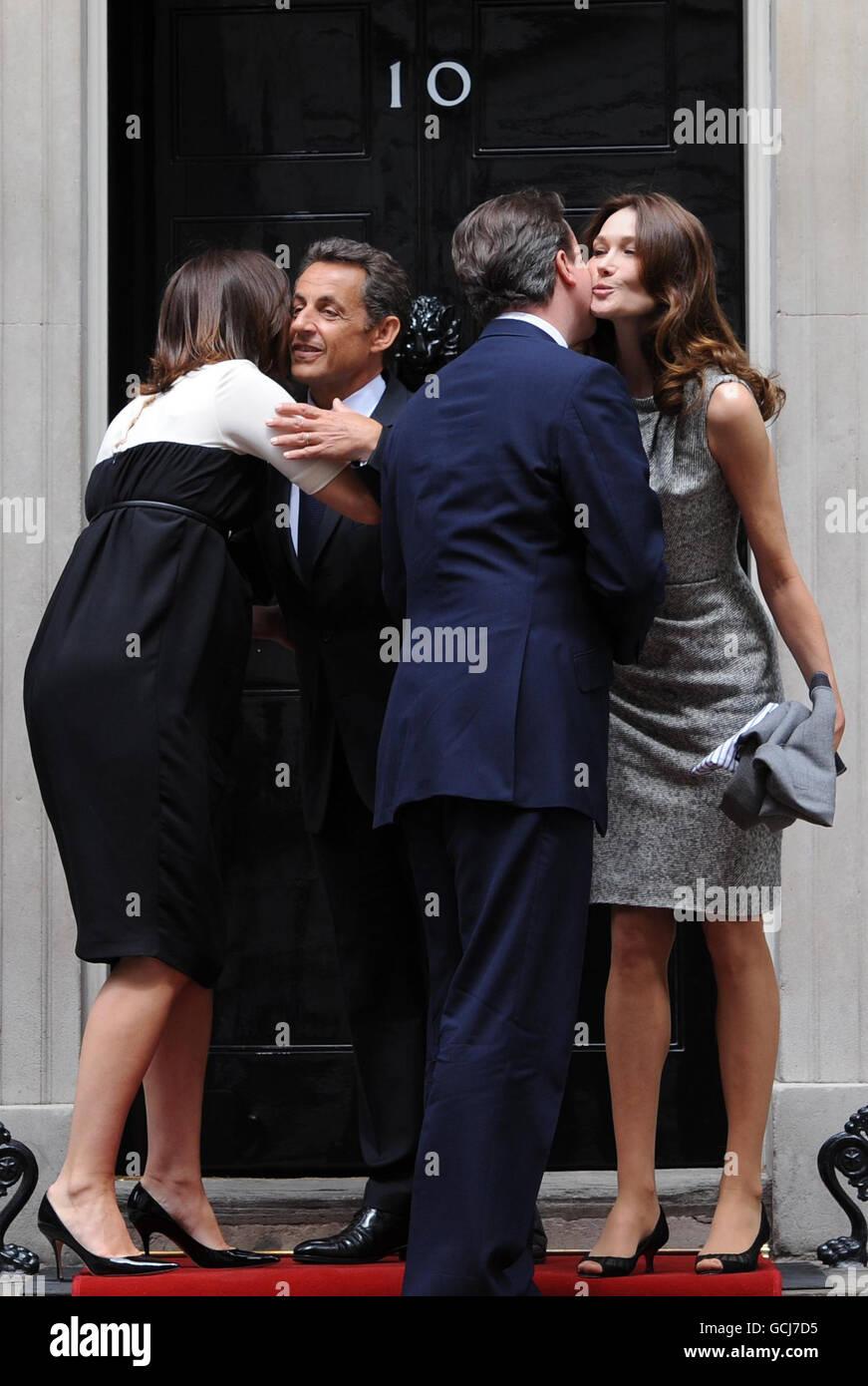 Sarkozy visits London - Stock Image