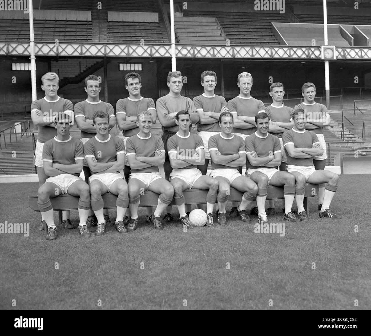 Soccer - League Division One - Everton Team - Goodison Park - 1962 - Stock Image