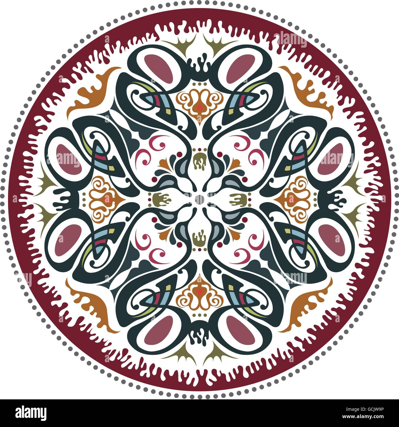 Art nouveau decorative floral pattern motif Stock Vector Art ...