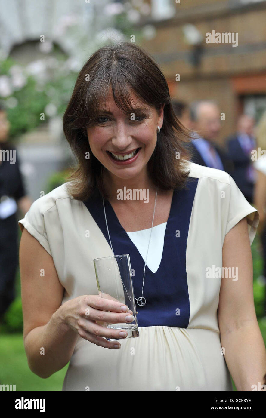 Samantha Cameron hosts her first Downing Street reception Stock Photo
