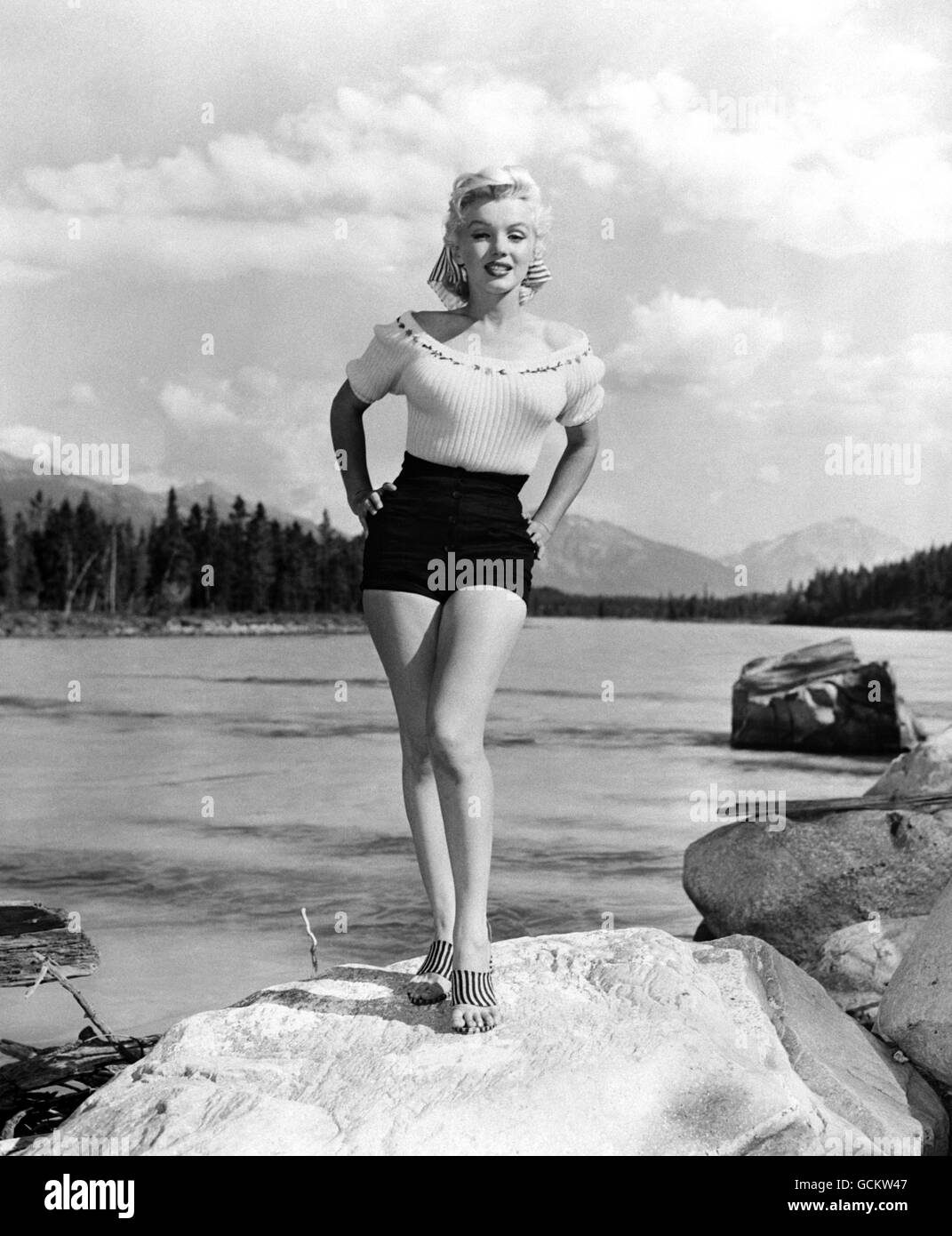 Film - Marilyn Monroe - Jasper National Park, Alberta, Canada. - Stock Image