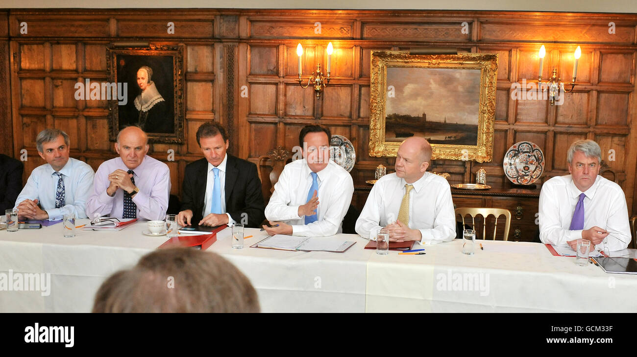 Cabinet meeting at Chequers Stock Photo