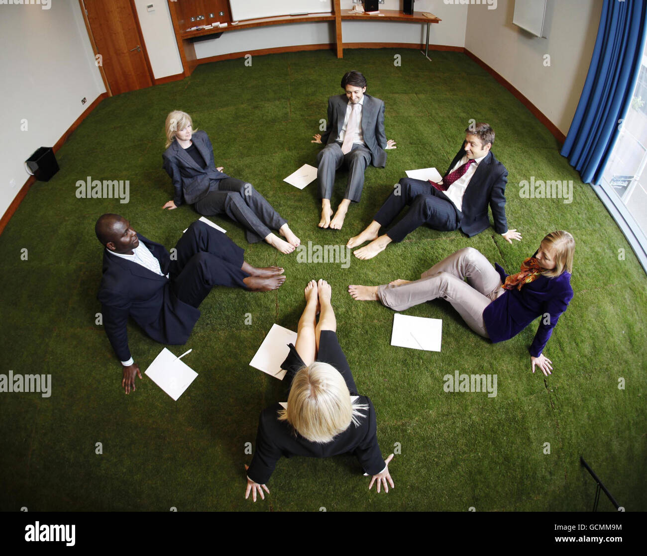 Grass meeting room Stock Photo