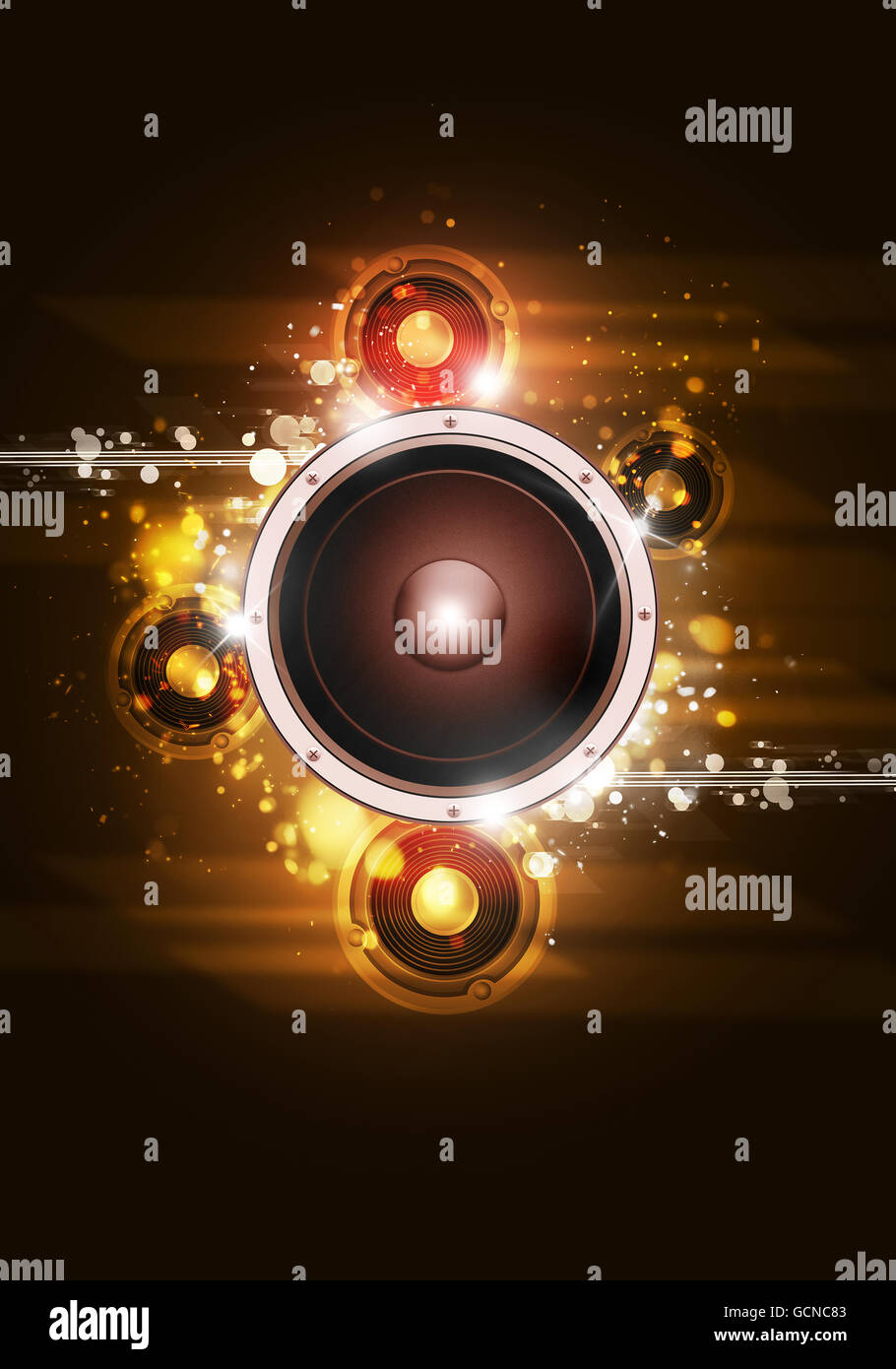 disco party music background for flyers and club posters stock photo