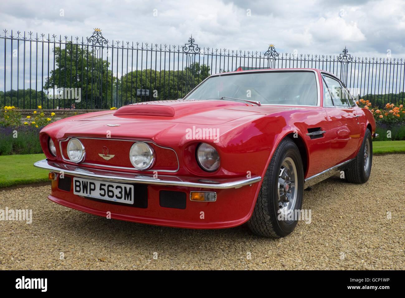 Vintage Red Aston Martin Stock Photo Alamy