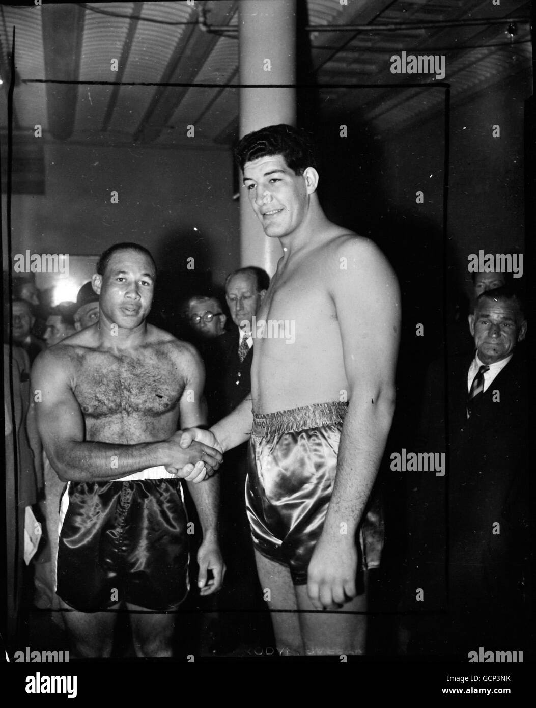 Boxing - Ewart Potgieter and Noel (Bull) - London - Stock Image
