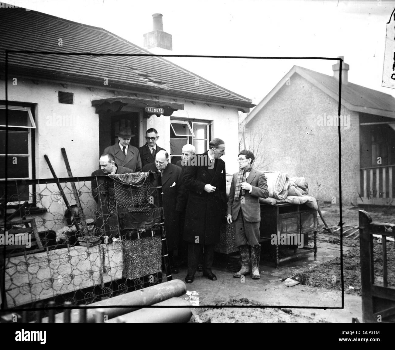 Disaster - The Lord Mayor of London, Sir Rupert De la Sere visited Canvey Island - Canvey Island - Stock Image