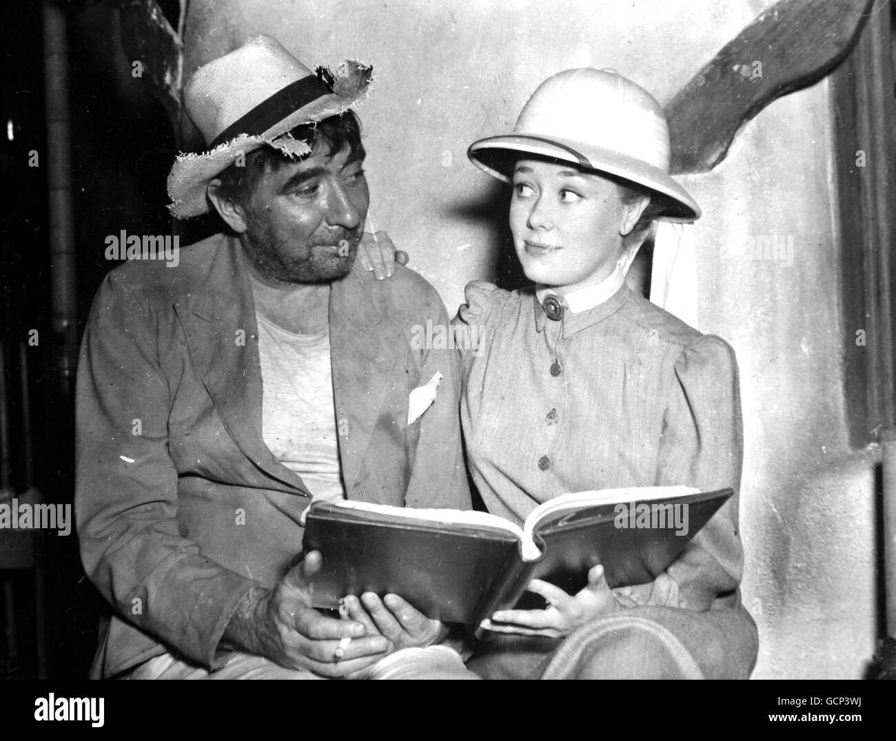 Entertainment - Robert Newton and Glynis Johns - Stock Image