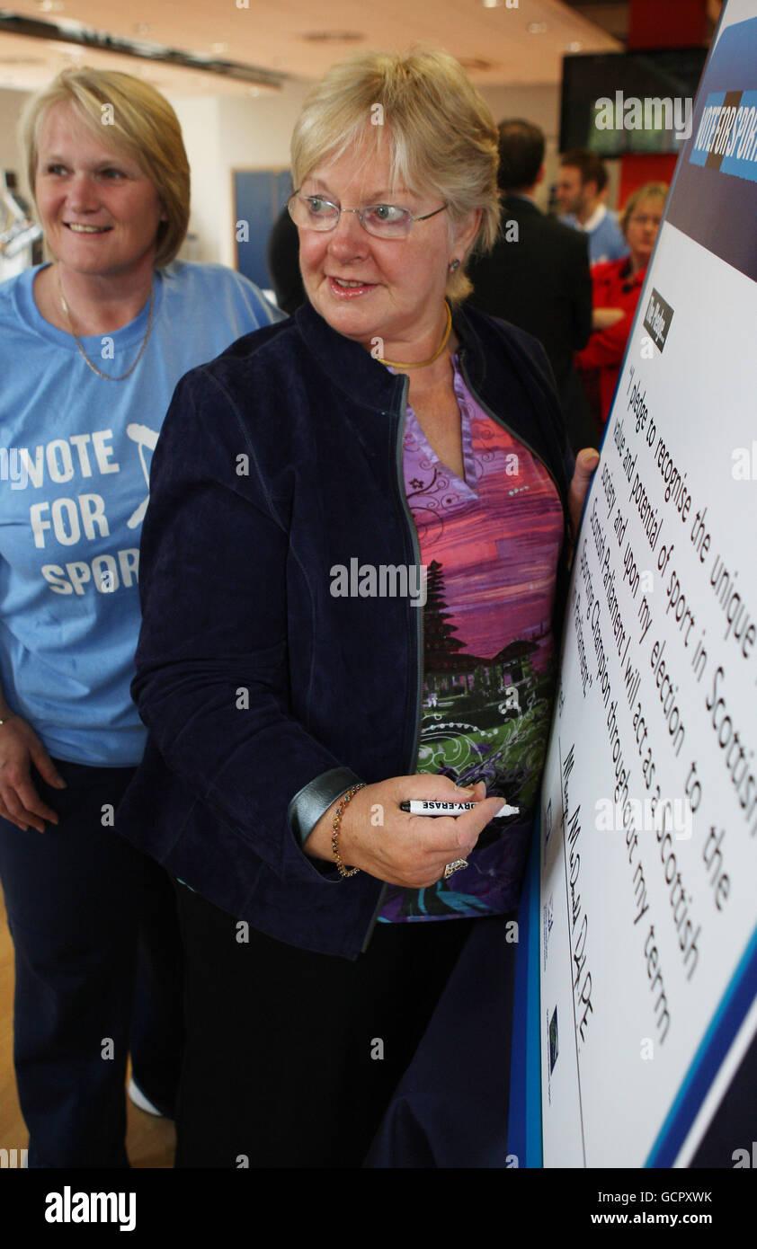 Vote for Sport pledge - Stock Image