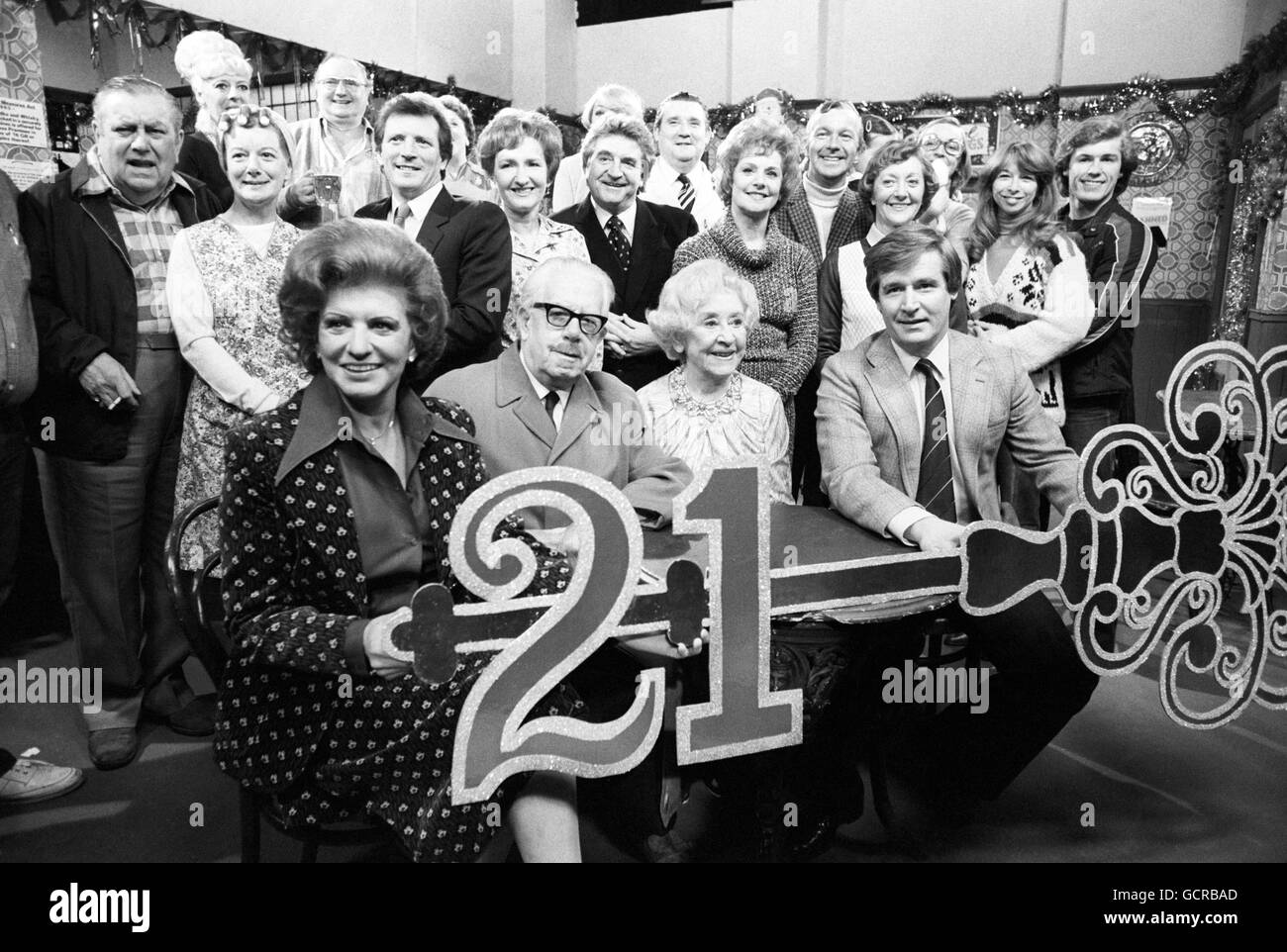 Television - ITV - Coronation Street 21st Anniversary - Granada Studios - Stock Image