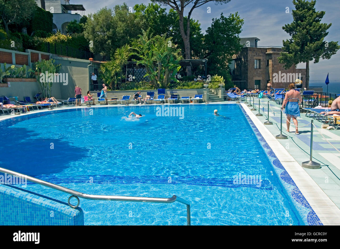 A Swimming Pool At The Bristol Hotel Hotel In Sorrento Bay Of Stock Photo 111152411 Alamy