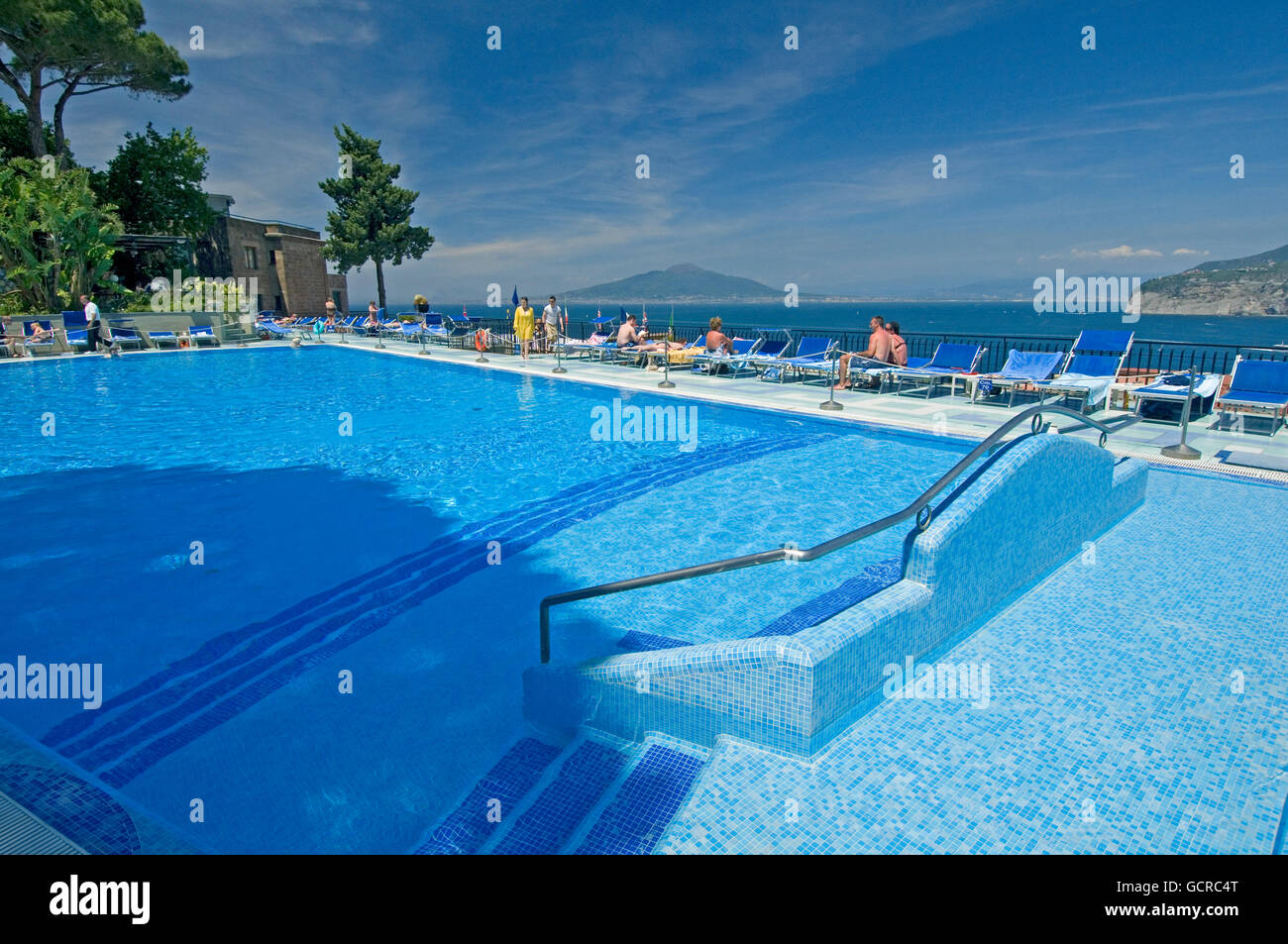 A Swimming Pool At The Bristol Hotel In Sorrento Near Naples Italy Stock Photo 111152520 Alamy