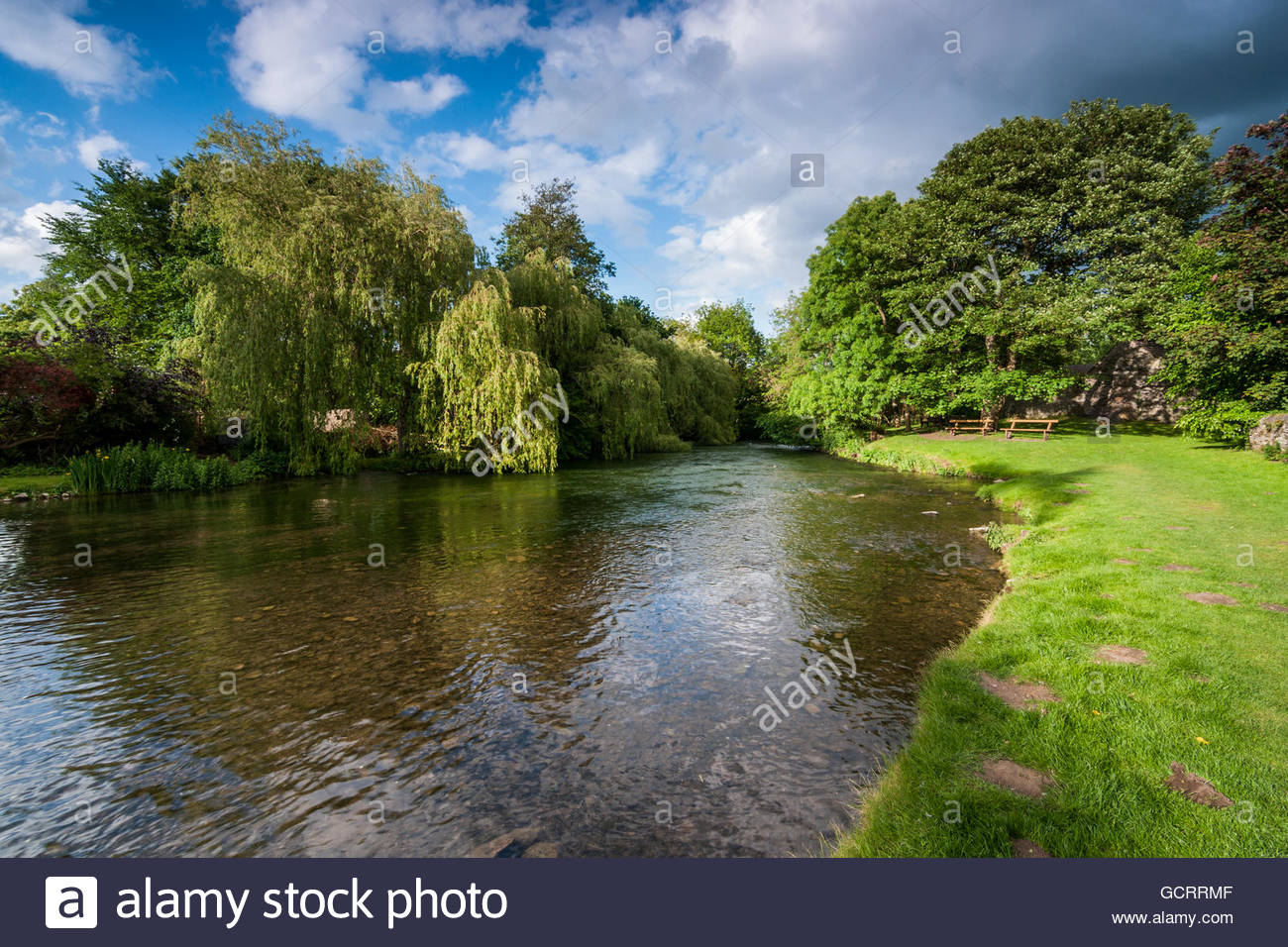Ashford in the Water - Stock Image