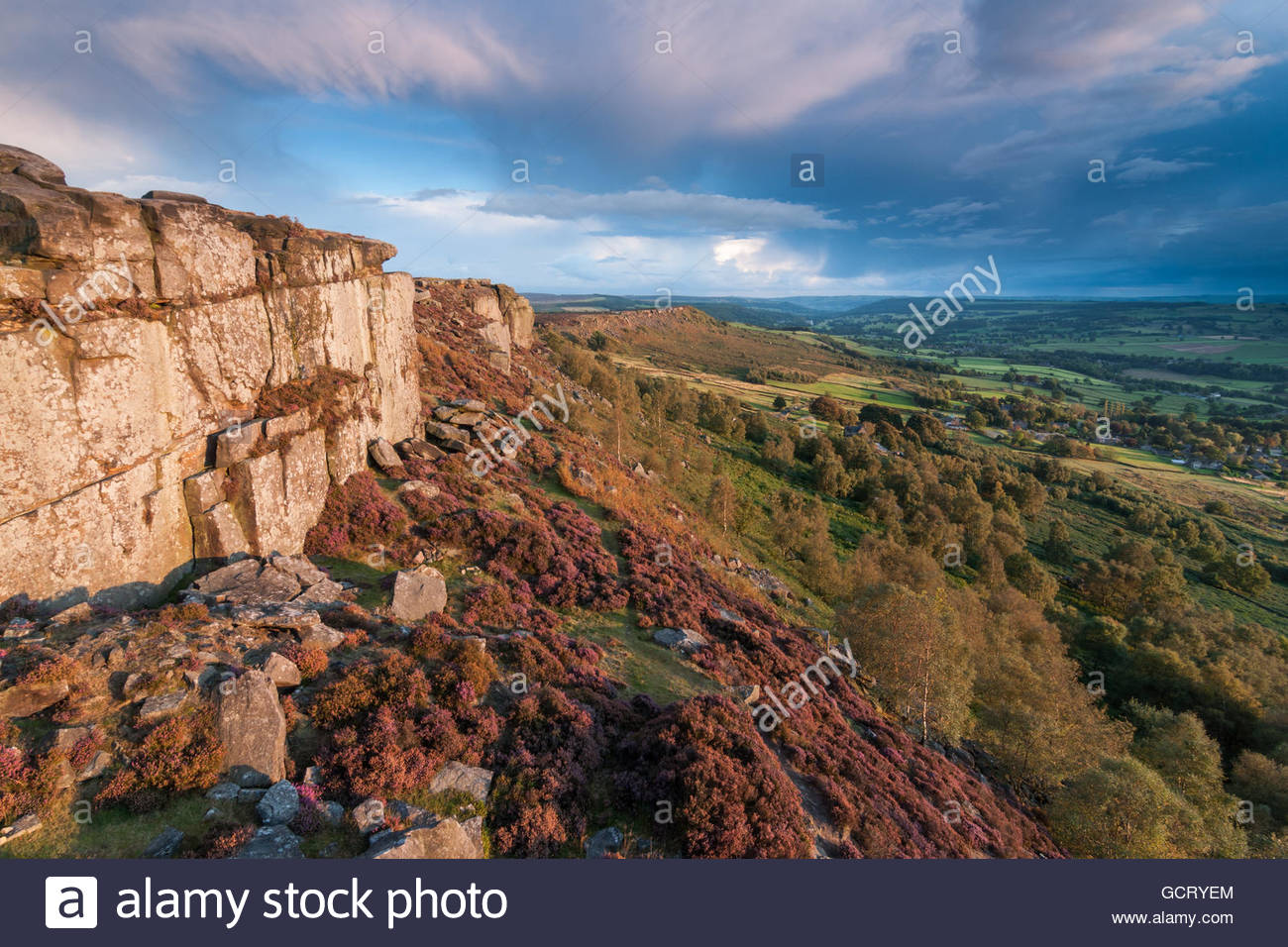 Curbar Edge Storms - Stock Image