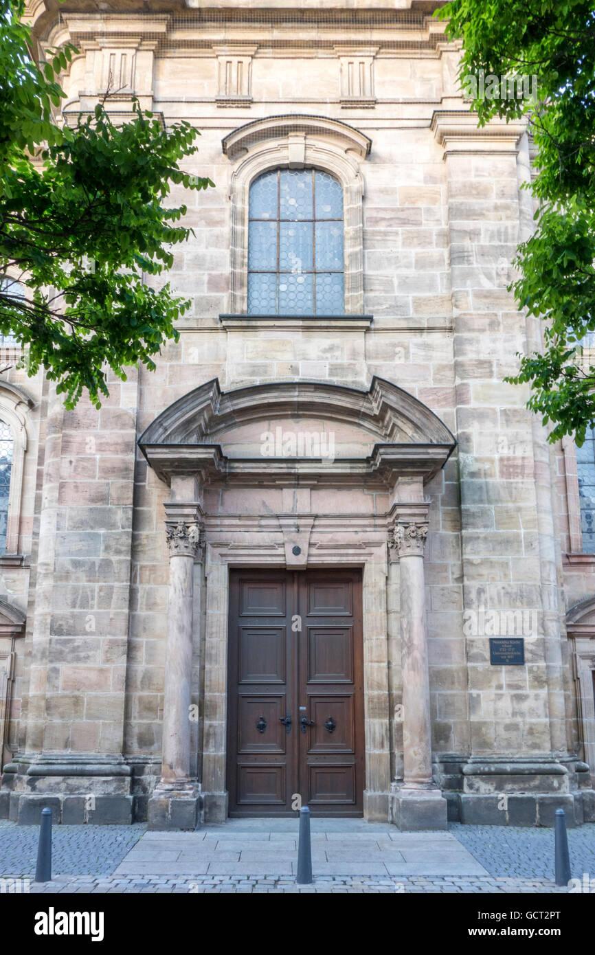Neustädter Kirche, Erlangen, Bavaria, Germany - Stock Image