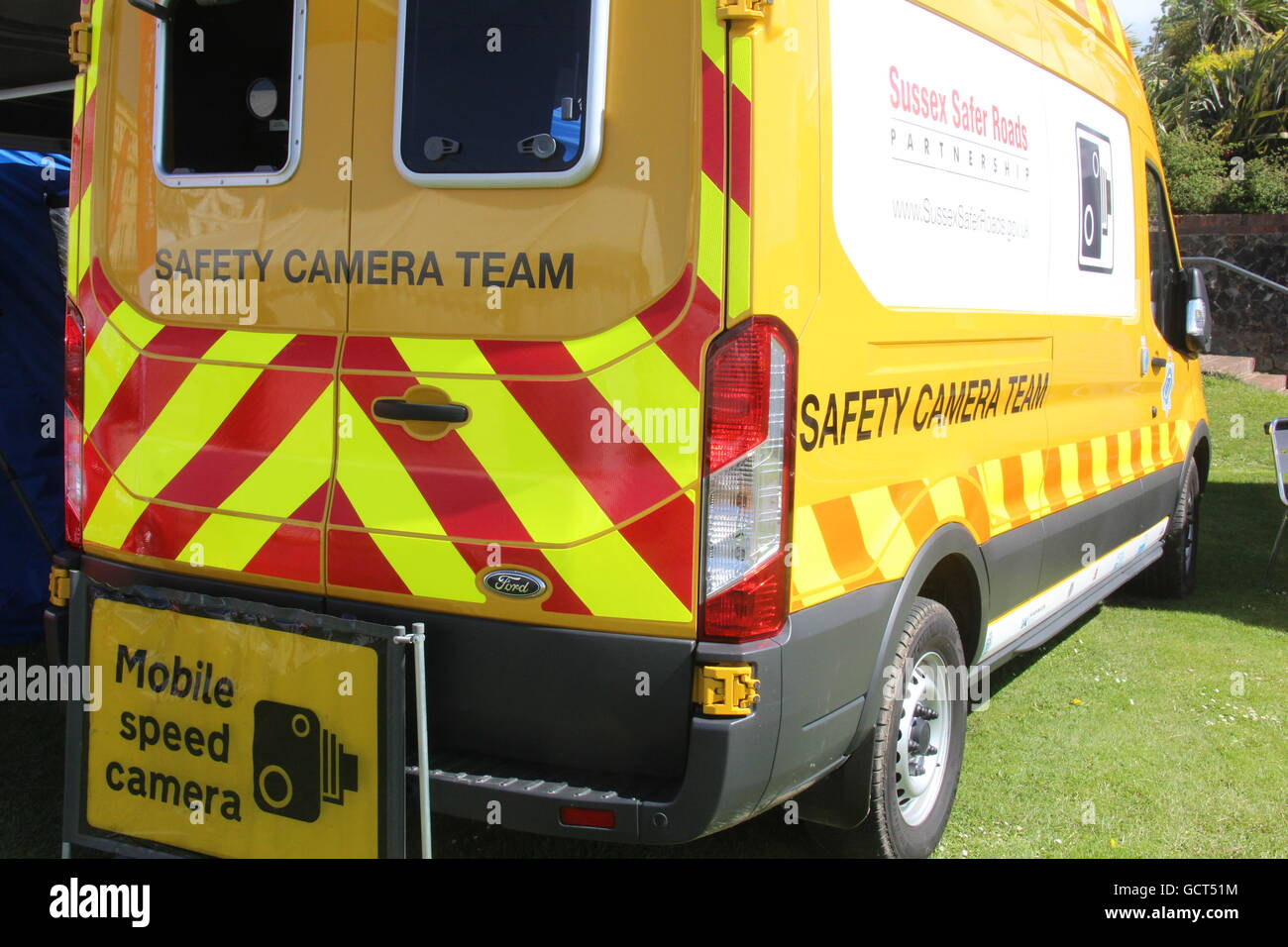 7ab99b67a7 A MOBILE SPEED CAMERA VAN OF THE SUSSEX SAFER ROADS SAFETY CAMERA TEAM -  Stock Image
