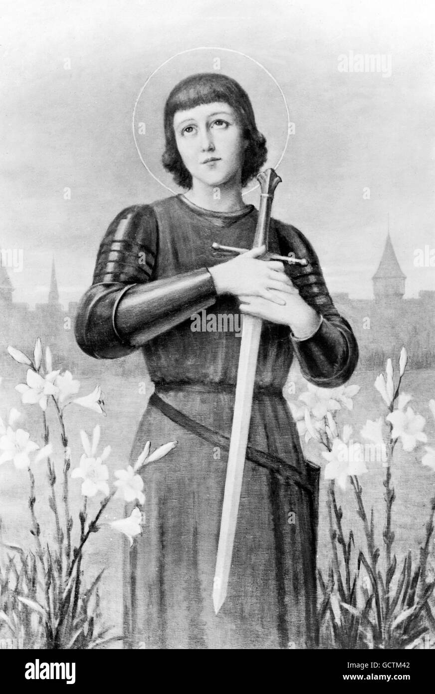 Joan of Arc (Jeanne d'Arc: c.1412-1431), often referred to as  the 'The Maid of Orléans'. - Stock Image