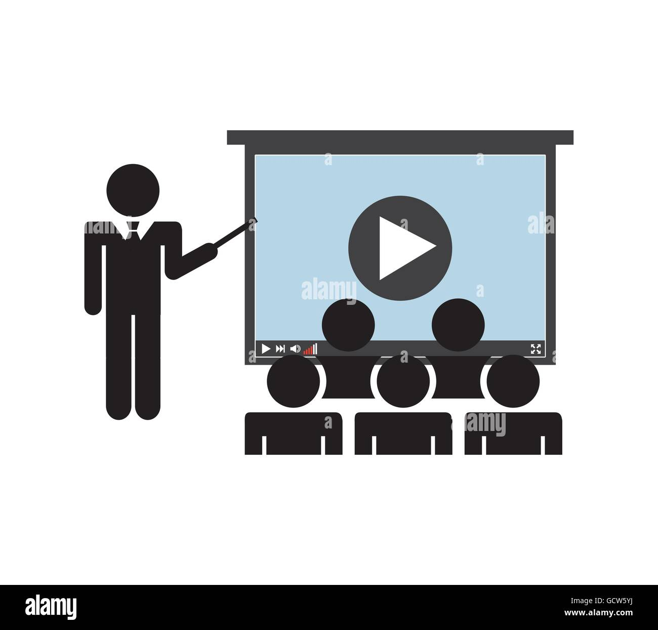 Presentation class icon. Audiobooks design. Vector graphic Stock Vector