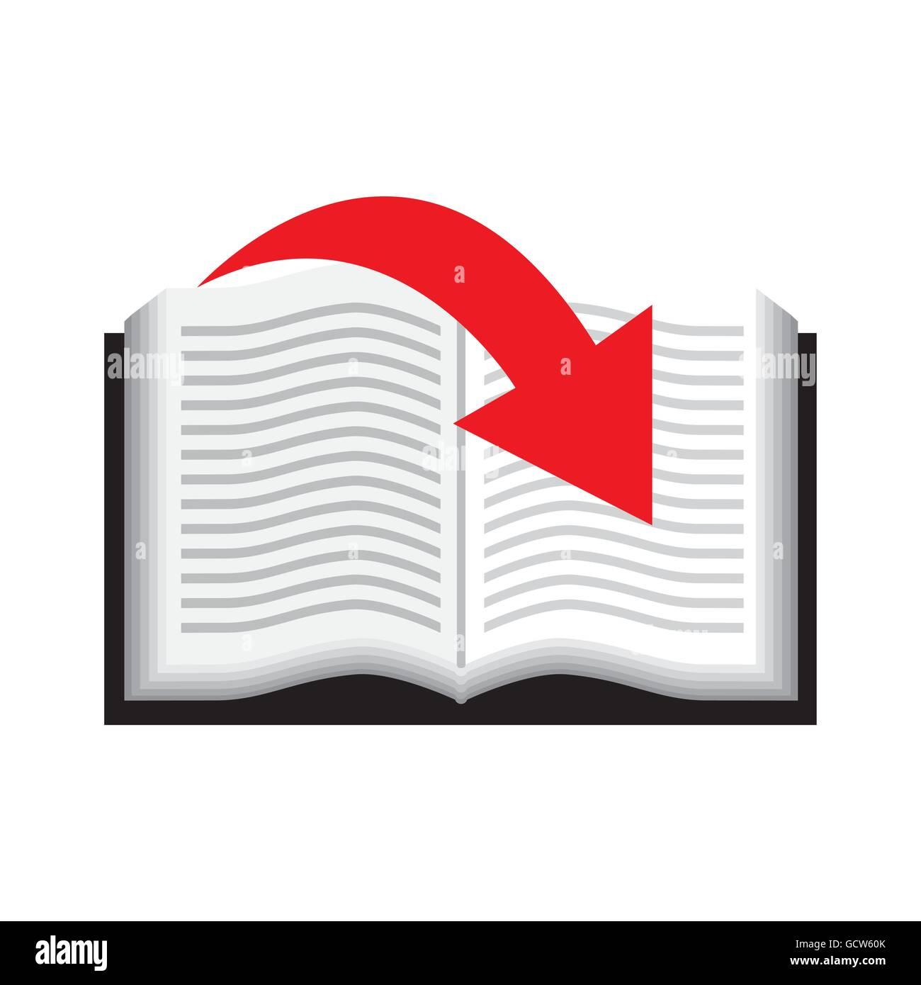 Book icon. Audiobooks design. Vector graphic Stock Vector