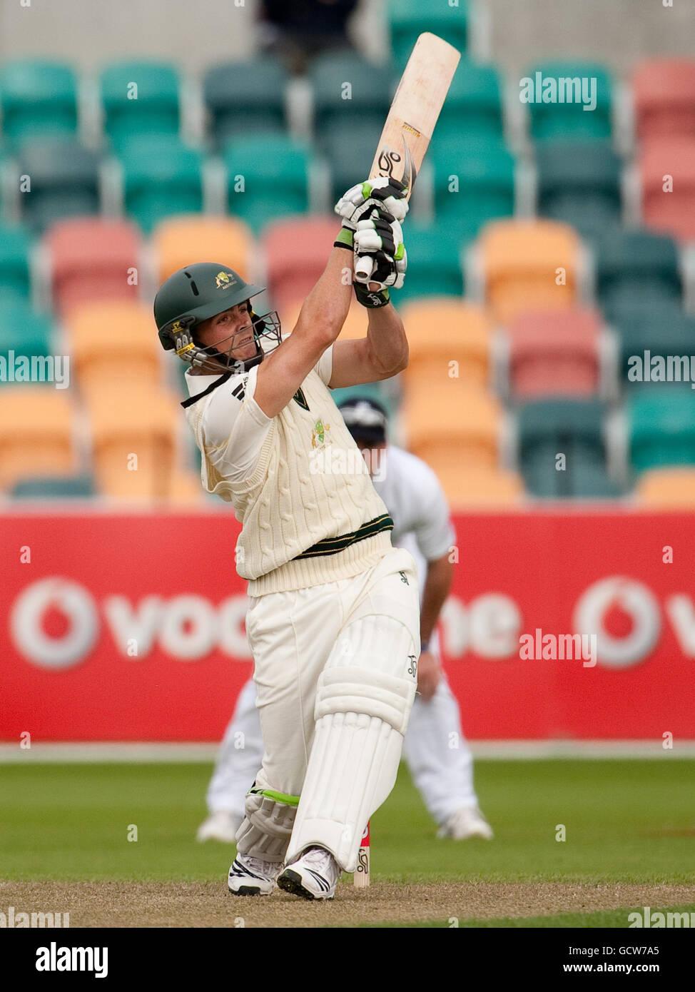 Cricket - Tour Match - Australia A v England XI - Day One - Bellerive Oval - Stock Image