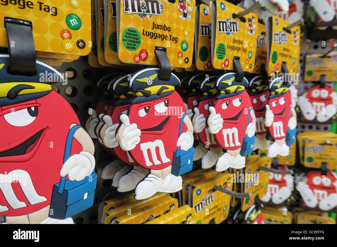 f06bd5a0d8bb Red Pilot M&M Luggage Tag, M&M's World Store, Times Square, NYC ...