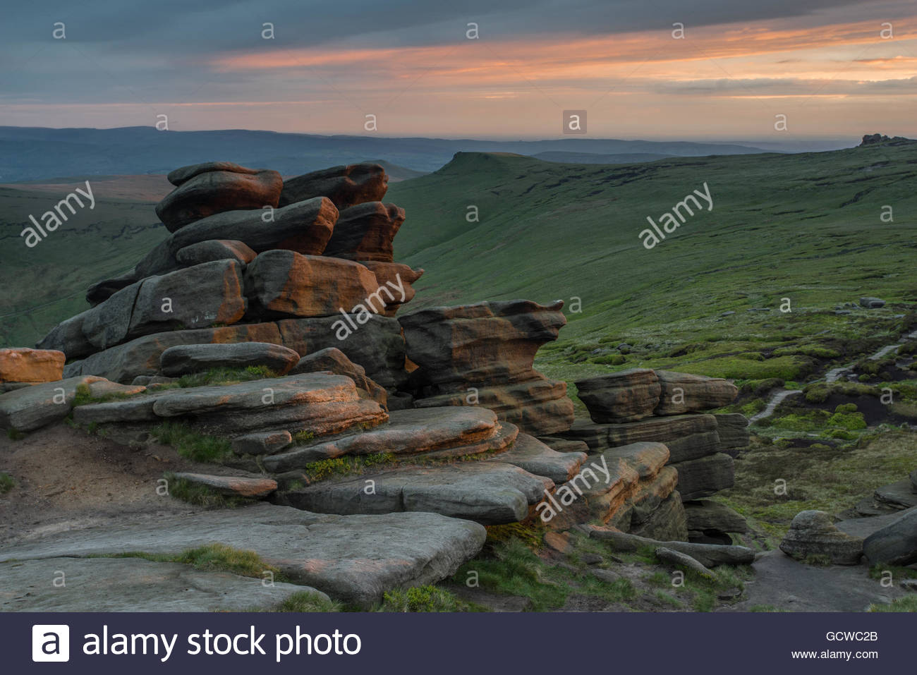 Pym Chair on Kinder Scout - Stock Image