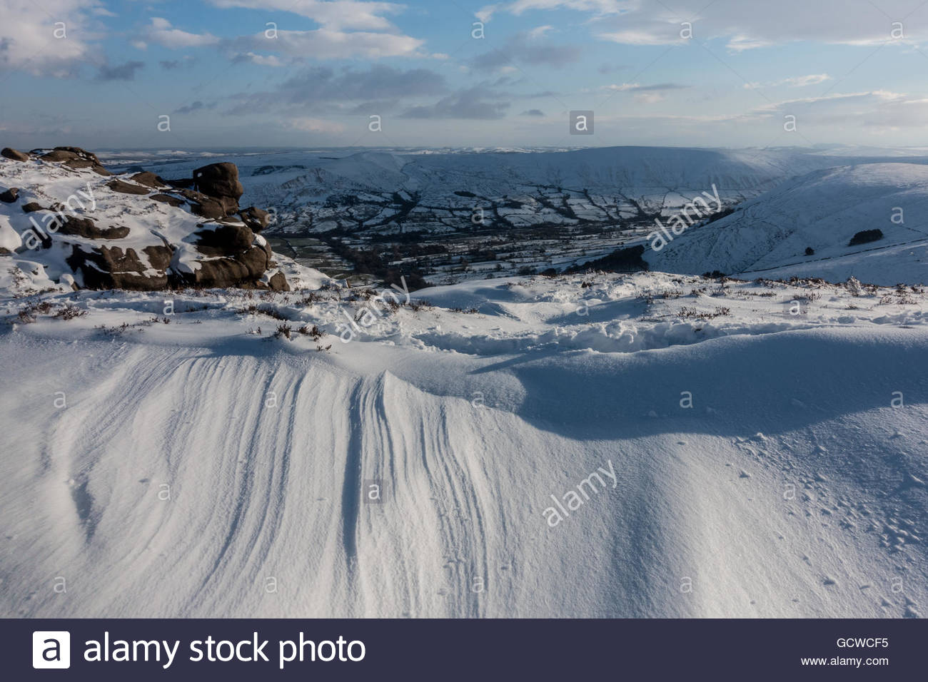 Nether Tor Snows, Kinder Scout - Stock Image