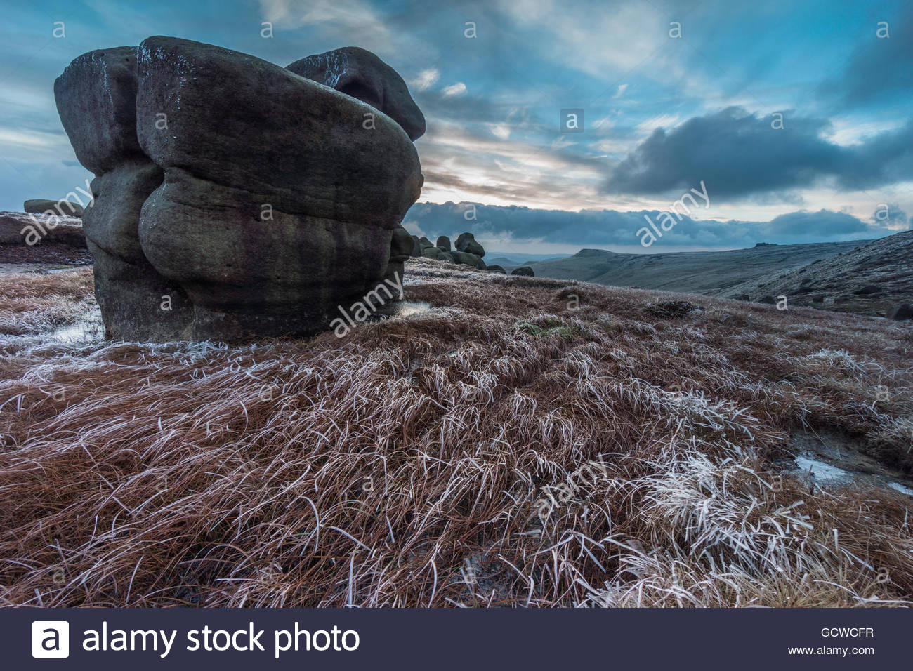 The Wool Packs in Winter - Stock Image