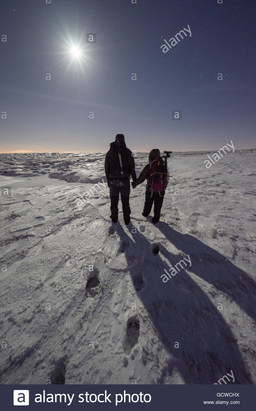 A couple on Kinder Scout - Stock Image